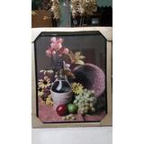 Cuadro Frutas Y Flores 51 X 41 Enmarcado Nuevo