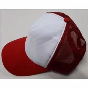 Gorras De Trucker Rojo Frente Blanco Venta X 5 Unidades