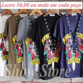 Lote Revenda Lucro Blusas Femininas Moda Praia 5 Pças 2732