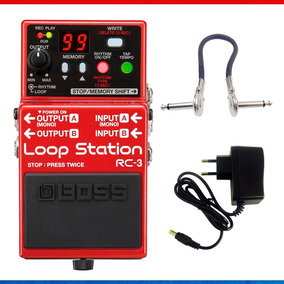 Pedal Boss Rc-3 Loop Station + Cabo E Fonte
