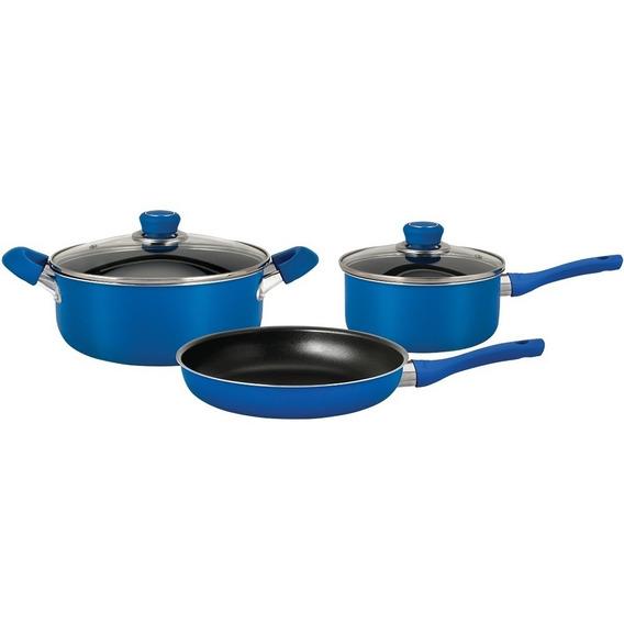 Ollas Bateria De Cocina 5 Pzs Hudson Teflon Sarten Cacerola
