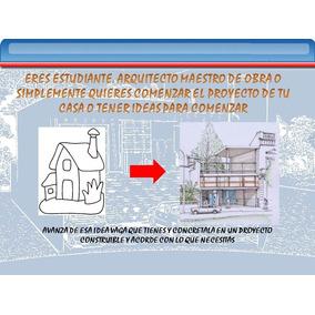 Planos De Autocad Diseñados Por Arq. + De 100 Casas, Deptos
