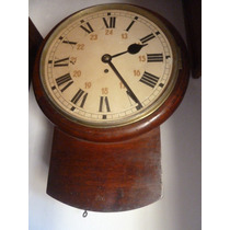 Reloj De Pared Antiguo De Ferrocarril Funcionando