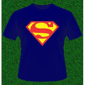 Remeras Superman Estampadas, Algodon Peinado