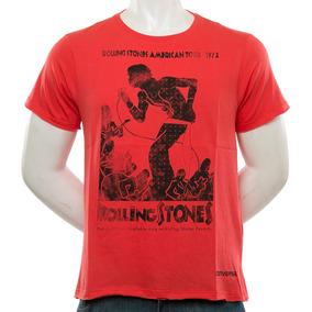 Remera Rolling Stones American Roja Converse Sport 78