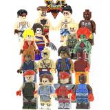Set Ken Ryu Blanca Vega Street Fighter Compatible Con Lego