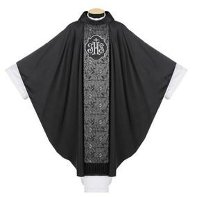 Capa De Asperges Preto - Paramentos Católicos Frete Gratis