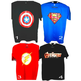 Remera Comics Superheroes,flash, Avengers Capitan America
