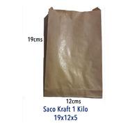 Bolsas Papel Kraft, 19x12x5, 1 Kilo, 100 Unidades