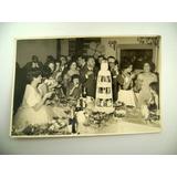 Antigua Foto Boda Casamiento Torta Varios Pisos 1960 Boedo