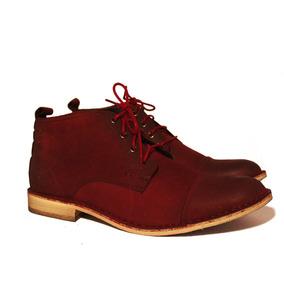 Zapato Acordonado De Hombre Bellmur Color Bordó