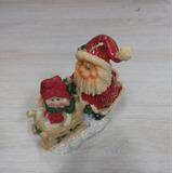 Enfeite De Natal Papai Noel Cerâmica Luxo 10cm