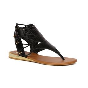 Trender Sandalia De Pata De Gallo En Color Negro