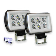 Par Faro Auxiliar Dually 6 Leds Anillo Luminoso Cob Gel
