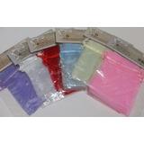 Paquete De 6 Bolsas De Organza Unicolor De 10cm X 13cm