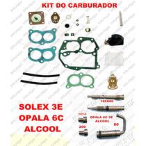 Kit Carburador Opala 6c 89/92 Alcool Solex Duplo 3e