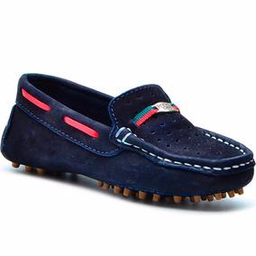 Mocassin Infantil Sapato Sapatenis Polo 100% Couro Infantil