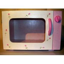 Microondas De Madera Para Nena Muebles De Cocina Para Jugar