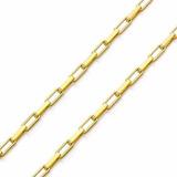 Corrente De Ouro 18k Cartier 45cm Quadrada - Viagold R02