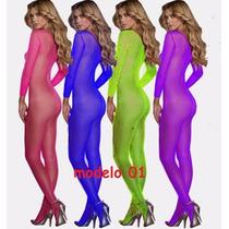 Baby Dolls Bodystocking Lencería Unitalla Sexy Striper Xxx