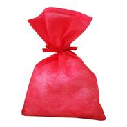 40 Sacos Surpresa Tnt 15x23 Vermelho Com Fita De Cetim