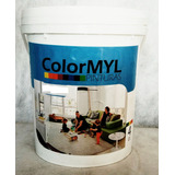 Pintura Pared Exterior Interior Naranja Colormyl 4 Lt.