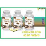 Kit 3 Óleo De Chia 60 Caps De 1000mg + Brinde