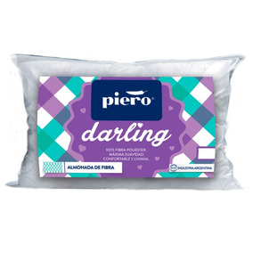 Almohada Piero Darling 65x40 De Fibra Antialergica Lavable