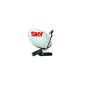 Kit Antena Parabólica Sky 60 Cm + Receptor Digital Pré Pago