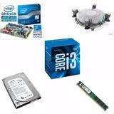 Kit Processador Box I37100+4g Memória 4gb Ddr+mb H61cr+hd500