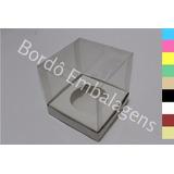 40 Caixas Acetato Transparente 6x6x6 Color Bolo Cupcake