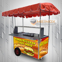 Puesto Hot Dogs Hamburguesas Carrito Carro Carreta Meinox