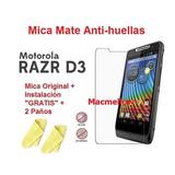 Mica Film Pantalla + Instalacion + Paño Motorola Razr D3