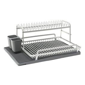Ta Da De Aluminio De Dos Niveles Estante Para Platos Con Sil