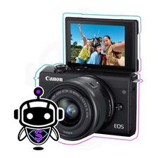 Camara Canon Eos M200 4k + Maleta + Tripode + Memory 128gb !