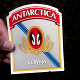 Rótulo Cerveja Antarctica Sem Uso / Novo E Original