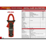 Pinza Amperimetrica Pr-206a Prasek Premium