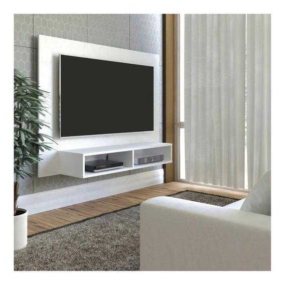 Estante Panel Tv Mueble Melamina 18mm Blanco