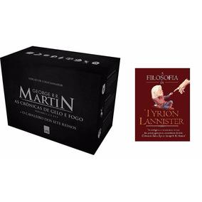 Box Guerra Dos Tronos 5 Livros + Filosofia De Tyrion