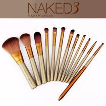 Kit De 12 Pinceis Naked 3 + Brinde + Pronta Entrega!!