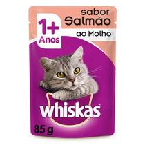 Ração Whiskas Sachê Salmão Para Gatos Adultos 18 Unidades