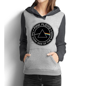 Blusa Moletom Feminino Raglan Pink Floyd The Dark S Oft Moon
