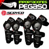 Kit De Rodilleras Y Coderas Scoyco Moto K-11h11-2 A S/110