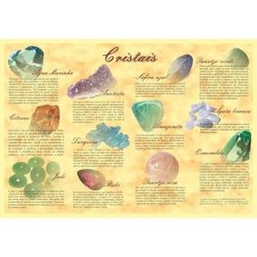 Cartaz Poster Mapa Poder Terapêutico Cristais Pedras Tam A-3