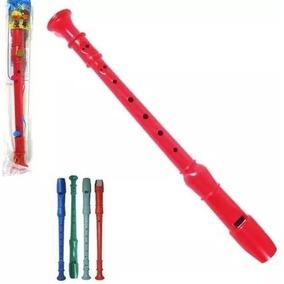 Kit Flauta Doce Infantil Com 10 Peças Brinquedo Musical