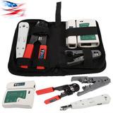 Rj45 Rj11 Red Lan Herramienta Establecidas Cable Kit Tester