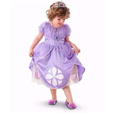 Vestido Fantasia Princesa Sofia Luxo + Coroa + Frete Grátis!