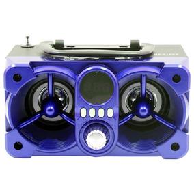 Caixa Som Roadstar Rs612cx Azul Com Controle Remoto