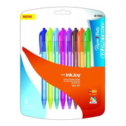 Boligrafo Papermate Inkjoy 100rt Retractil Color X8