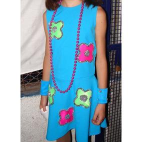 Disfraz De Nena Con Flores Con Lentejuelas Bordadas Colorido
